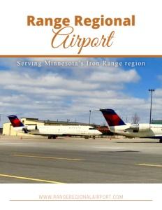 Range Regional Airport brochure cover.