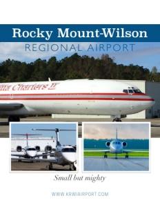 Rocky Mount-Wilson Regional Airport brochure cover.