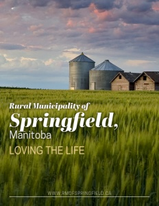 Rural Municipality of Springfield, Manitoba brochure cover.