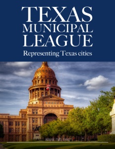 Texas Municipal League brochure cover.