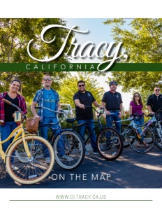 Tracy, California brochure cover.