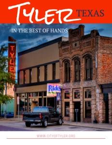 Tyler, Texas brochure cover.