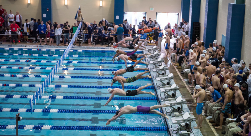 Birmingham Crossplex NCAA 2017 swimming.