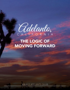 Adelanto, California brochure cover.