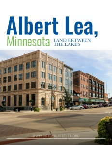 Albert Lea, Minnesota brochure cover.