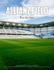 Allianz Field brochure cover.