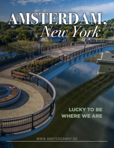 Amsterdam, New York brochure cover.