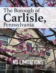 The Borough of Carlisle, Pennsylvania brochure cover.