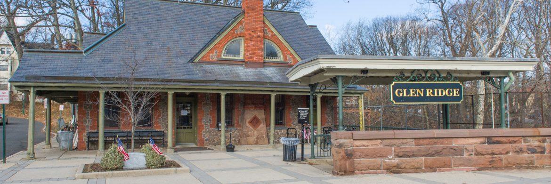 Glen Ridge Borough, New Jersey, NJ train stop.