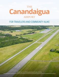 Canandaigua Airport brochure cover.