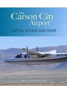 Carson City Airport brochure cover.