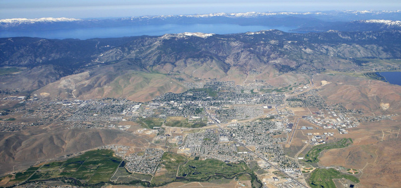 The Carson City Airport aerial view.