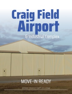 Craig Field Airport brochure cover.