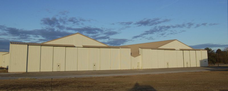 The Craig Field Airport hangar 3