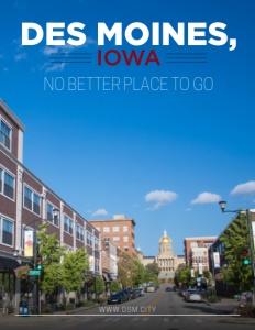 Des Moines, Iowa brochure cover.