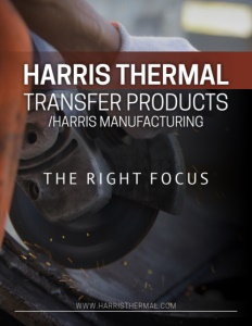 Harris Thermal Transfer Products brochure cover.
