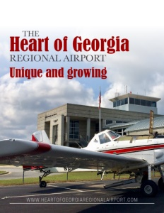 The Heart of Georgia Regional Airport brochure cover.