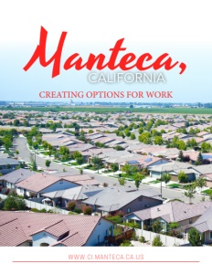 Manteca, California brochure cover.