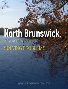 North Brunswick, New Jersey brochure cover.