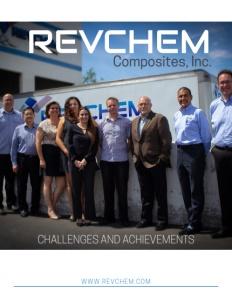 Revchem Composites Inc brochure cover.