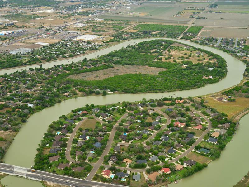 San Benito, Texas, TX aerial view.