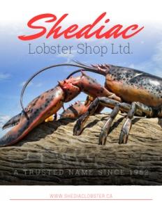 Shediac Lobster Shop Ltd. brochure cover.