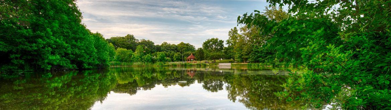 Washington Township, New Jersey park lake view.