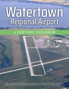 Watertown Regional Airport brochure cover.