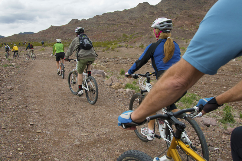 Henderson, Nevada Bikers at McCullough Hill Trail.