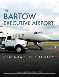 Bartow Executive Airport brochure cover.