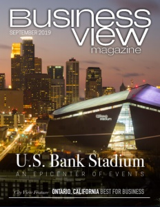 September 2019 issue cover for Business View Magazine