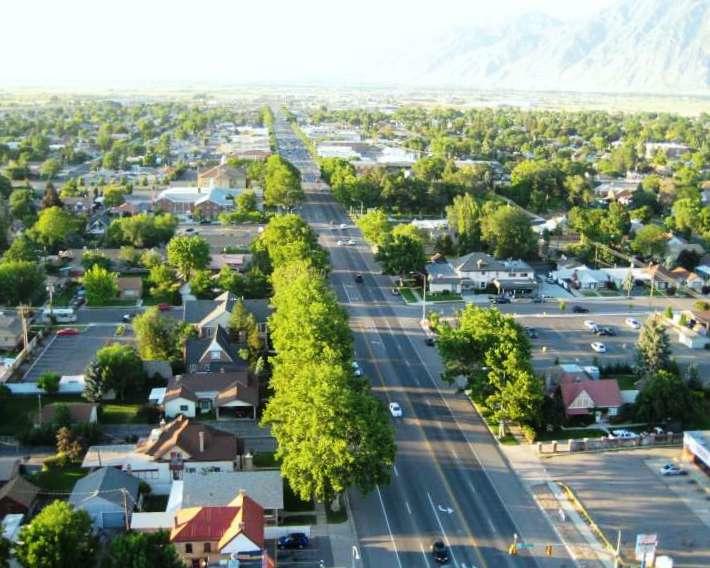 Spanish Fork, Utah Main Street aerial