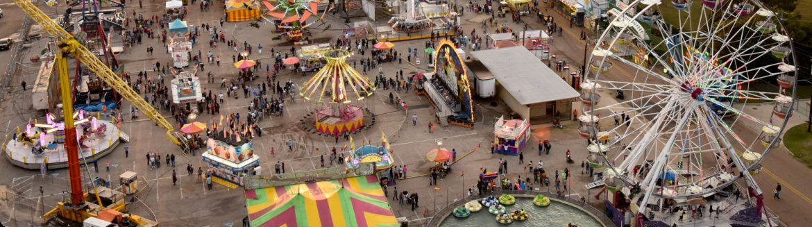 The State Fair of Louisiana overhead view.