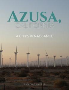 Azusa, California brochure cover.
