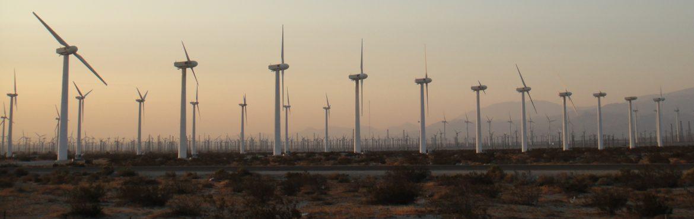 Azusa, California wind turbines.