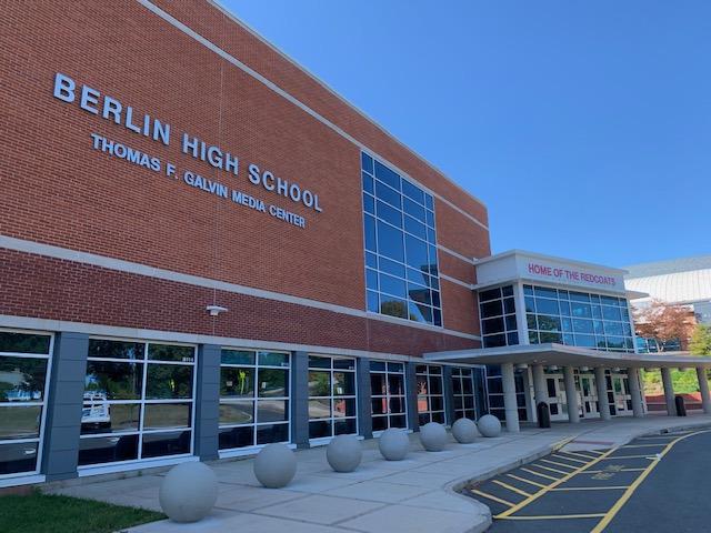 Berlin, Connecticut Berlin High School building.