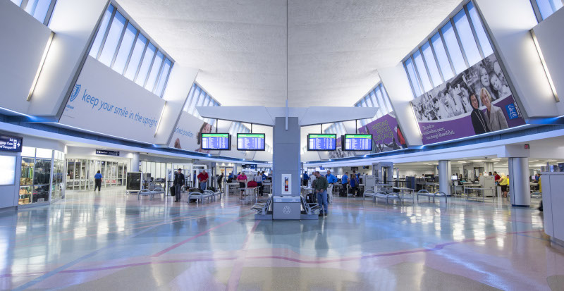 Buffalo Niagara International Airport, BNIA, Interior view