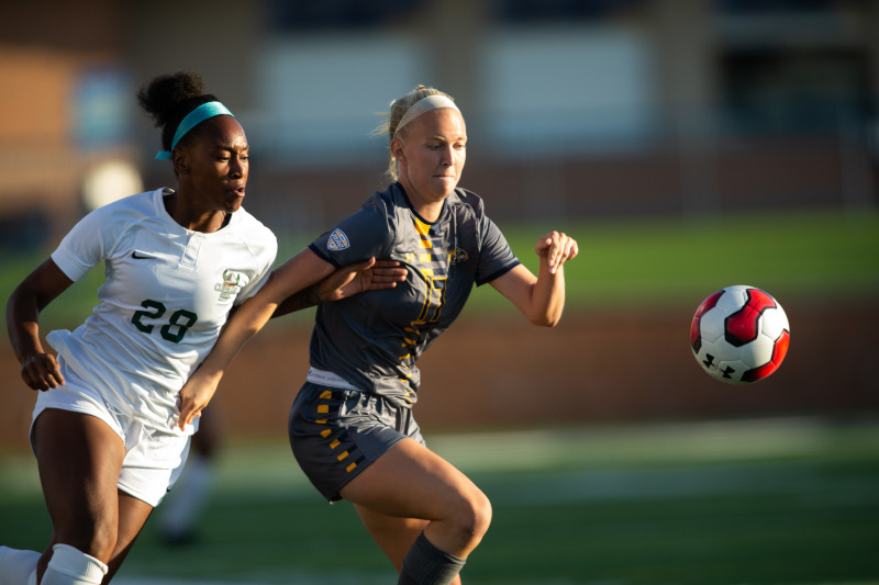 Dix Stadium hosting Kent State University Kent State women's soccer vs. Cleveland State.