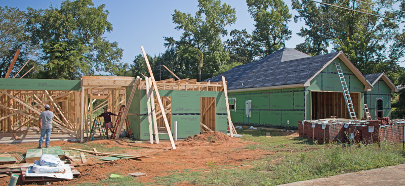 East Texas Homes construction site.