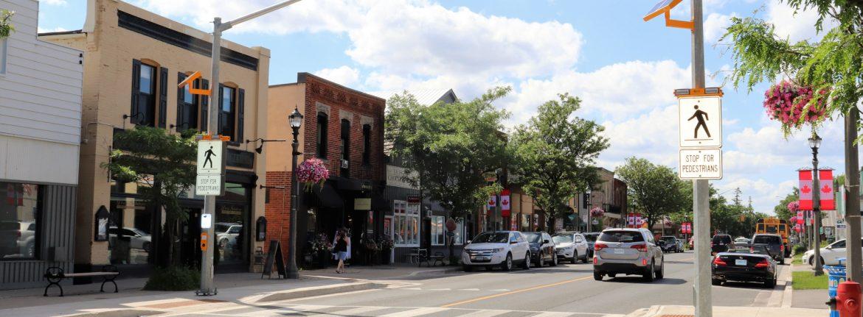 Erin, Ontario city street view.