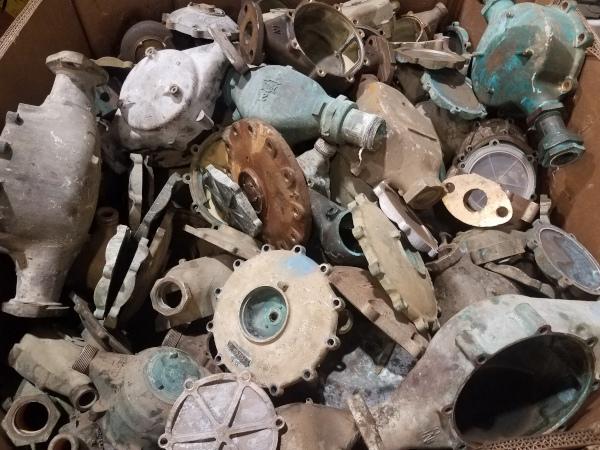 J. Solotken & Company, Inc. car part scrap pile.