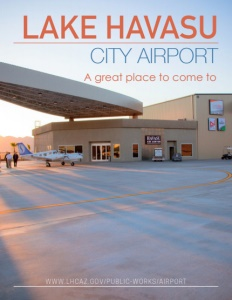 Lake Havasu City Airport brochure cover.