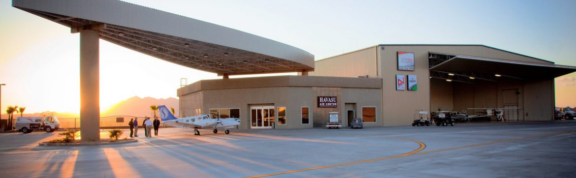 Lake Havasu City Airport terminal.