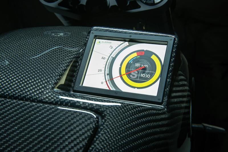 LITO / Sora Motorcycles display closeup.