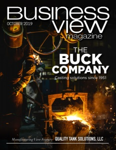 October 2019 Issue Cover of Business View Magazine featuring the Buck Company.