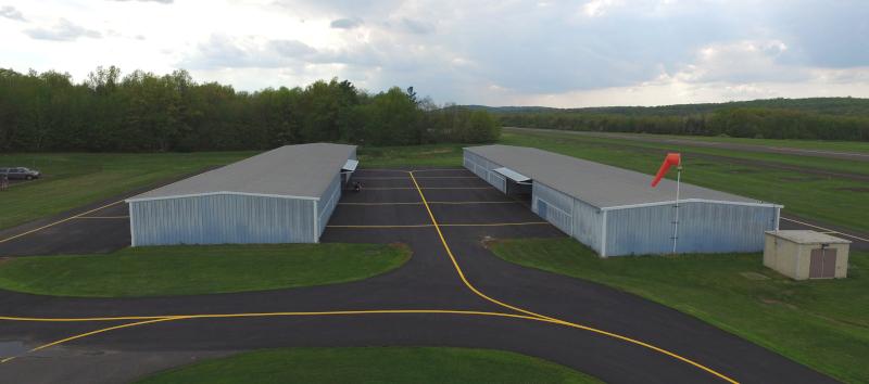 Pennridge Airport hangars.