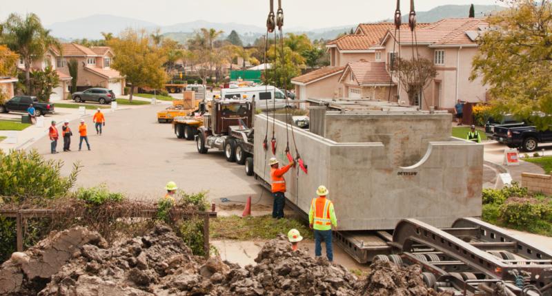 Santee, California Mast Park construction.