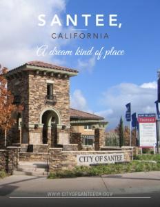 Santee, California brochure cover.