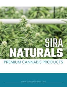 Sira Naturals brochure cover.