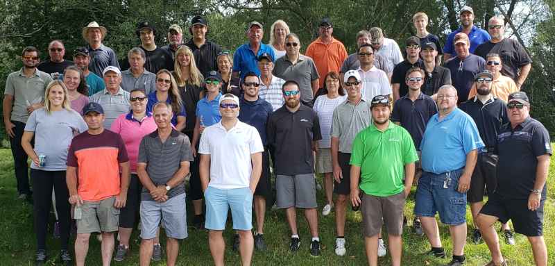 Vanden Bussche Irrigation & Equipment Ltd. Golf Day Group photo.